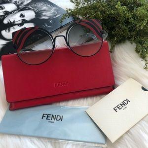 Fendi Cutout Cat Eyes Sunglasses